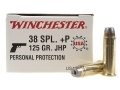 Winchester USA Ammunition 38 Special +P 125 Grain Jacketed Hollow Point