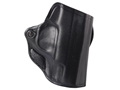 DeSantis Mini Scabbard Outside the Waistband Holster Right Hand Smith & Wesson M&P Shield Leather Black