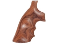Hogue Fancy Hardwood Grips with Finger Grooves S&W K, L-Frame Square Butt Pau Ferro