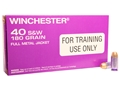 Winchester LE Training Ammunition 40 S&W 180 Grain Full Metal Jacket