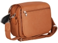 Gun Tote'N Mamas Boston Handbag Leather Tan