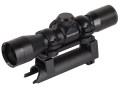 Barska Compact Contour SKS Rifle Scope 4x 32mm Duplex Reticle with SKS Mount and Rings Matte