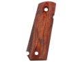 Ed Brown Grips 1911 Government, Commander with Bobtail Mainspring Housing Double Diamond Checkered Cocobolo