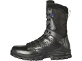 "5.11 EVO 8"" Side Zip Waterproof Uninsulated Tactical Boots Leather and Nylon Black Men's"