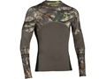 Under Armour Men's ColdGear Infrared Scent Control Tevo Crew Shirt Long Sleeve Polyester