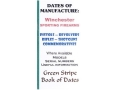Green Stripe Data Books &quot;Winchester&quot; Book by Firing Pin Enterprises