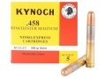 Product detail of Kynoch Ammunition 458 Winchester Magnum 500 Grain Woodleigh Weldcore Solid Box of 5