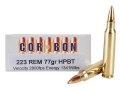 Cor-Bon Performance Match Ammunition 223 Remington 77 Grain Sierra Hollow Point Boat Tail Box of 20