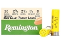 Remington Gun Club Target Ammunition 20 Gauge 2-3/4&quot; 7/8 oz #8 Shot