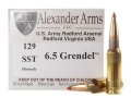 Alexander Arms Ammunition 6.5 Grendel 129 Grain Hornady SST Box of 20