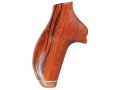 Hogue Fancy Hardwood Grips with Accent Stripe Ruger SP101 Checkered Cocobolo