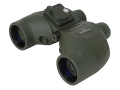 Barska Battalion Binocular 7x 50mm Porro Prism with Directional Compass and Rangefinder Rubber Armored Black