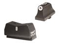 XS 24/7 Express Suppressor Height Night Sight Set Glock 20, 21, 29, 30, 30S, 37, 41 Steel Tritium Dot Front, Tritium Stripe Rear