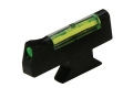 HIVIZ Front Sight for S&amp;W Revolver with Interchangeable Front Sight .208&quot; Height Steel Fiber Optic Green