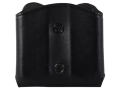Product detail of Ross Leather M52 Open Top Belt Slide Double Magazine Pouch Single Stack 45 ACP Leather Black