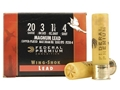 Federal Premium Wing-Shok Ammunition 20 Gauge 3&quot; 1-1/4 oz Buffered #4 Copper Plated Shot Box of 25