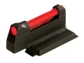 "HIVIZ Front Sight for S&W Revolver with Interchangeable Front Sight .208"" Height Steel Fiber Optic Red"