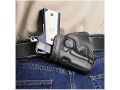 Product detail of Galco Small Of Back Holster Left Hand Springfield EMP Leather Black