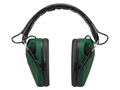 Caldwell E-MAX Low Profile Electronic Earmuffs (NRR 23dB) Green- Blemished