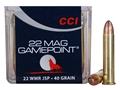 Product detail of CCI GamePoint Ammunition 22 Winchester Magnum Rimfire (WMR) 40 Grain Jacketed Spire Point