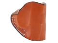 Product detail of DeSantis Mini Scabbard Outside the Waistband Holster Right Hand Ruger LCP Leather Tan