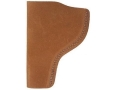 "Bianchi 6 Inside the Waistband Holster Right Hand Colt Python, Ruger GP100, S&W K, L-Frame 4"" Barrel Suede Leather Natural"