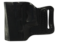 DeSantis E-Gat Slide Outside the Waistband Holster Glock 17, 22, 23, 26, 27 Leather Black