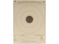 NRA Official Smallbore Rifle Training Target TQ-1/1 50' Junior Rifle Paper Package of 100