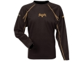 Scent-Lok Men's BaseSlayers Lightweight Crew Shirt Shirt Long Sleeve Polyester Bison 2XL 50-52