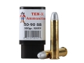 Product detail of Ten-X Cowboy Ammunition 50-90 Sharps 500 Grain Round Nose Flat Point Box of 20