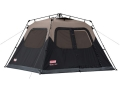 Coleman Instant 6 Man Cabin Tent 120&quot; x 108&quot; x 72&quot; Polyester Black and Tan