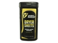 ScentBlocker Pre-Moistened Scent Elimination Dryer Sheets Pack of 20