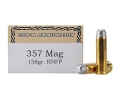 Ten-X Cowboy Ammunition 357 Magnum 158 Grain Lead Round Nose Flat Point Box of 50