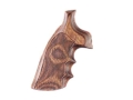 Hogue Fancy Hardwood Grips with Finger Grooves Colt Detective Special Checkered Rosewood Laminate