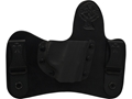 CrossBreed MiniTuck Inside the Waistband Holster Right Hand S&W M&P Bodygaurd .380 with Factory Laser Leather and Kydex Black