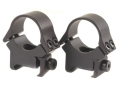 "B-Square 1"" InterLock Weaver-Style Rings with Recoil Blade Matte Medium"