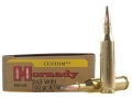 Hornady Custom Ammunition 243 Winchester 100 Grain InterLock Spire Point Boat Tail Box of 20