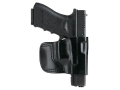 Gould &amp; Goodrich B891 Belt Holster Left Hand Glock 17, 19, 22, 23, 26, 27, 28, 31, 32, 33 Leather Black