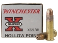Winchester Super-X Ammunition 22 Long Rifle 37 Grain Plated Lead Hollow Point