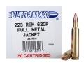 Ultramax Remanufactured Ammunition 223 Remington 62 Grain Full Metal Jacket Box of 50