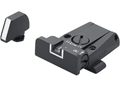 LPA SPR Adjustable Sight Set Glock 17, 19, 22, 23, 34, 35 Steel White Outline