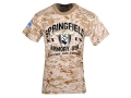 "Springfield Armory T-Shirt Short Sleeve Cotton Digital Camo Medium (40"")"
