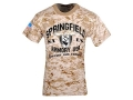 "Springfield Armory T-Shirt Short Sleeve Cotton Digital Camo Small (36"")"