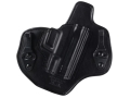 Bianchi Allusion Series 135 Suppression Tuckable Inside the Waistband Holster Right Hand Springfield XDM Leather Black