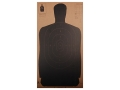 "NRA Official Silhouette Target B-27 (24"") 50 Yard Cardboard Black Package of 24"