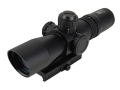 Product detail of NcStar Mark 3 Compact Tactical Rifle Scope 2-7x 32mm Red or Green Illuminated P4 Sniper Reticle Matte with Integral Quick Release Weaver-Style Base