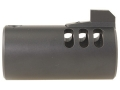 Volquartsen V-Comp Compensator with Front Sight Bull Barrel Ruger Mark II, III, 22/45 Black