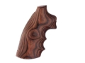 Hogue Fancy Hardwood Grips with Finger Grooves Colt Python Rosewood Laminate