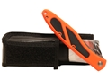 Havalon Piranta Edge Folding Skinning Knife ABS Handle Orange with Leather Sheath