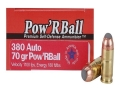 Glaser Pow'RBall Ammunition 380 ACP 70 Grain Box of 20